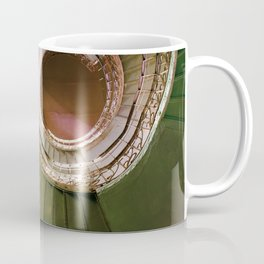 Staircaise with metal spiral ornamented stairs Coffee Mug