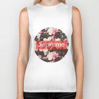 supreme Biker Tanks featuring Supreme Circle  by Massero Project