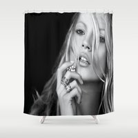 kate moss Shower Curtains featuring KATE MOSS by I Love Decor