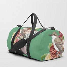 Lady with Birds(portrait) 2 Duffle Bag