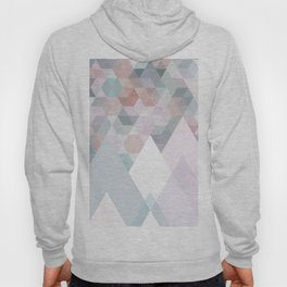 Pastel Graphic Winter Mountains on Geometry #abstractart Hoody