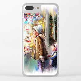 Christmas Greeting Card2 Clear iPhone Case