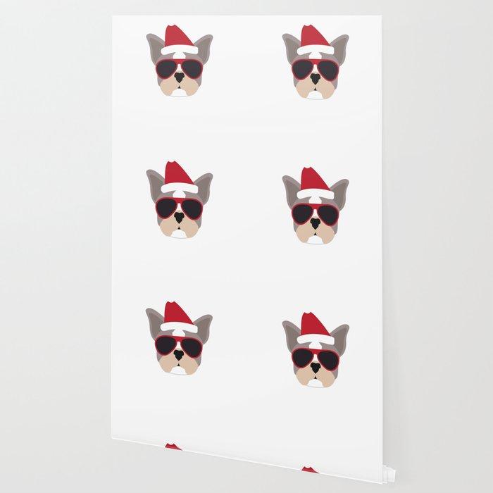 sleigh all day french bulldog funny christmas wallpaper
