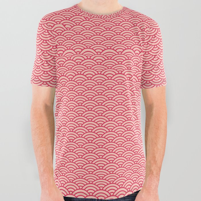Japanese_Sakura_Koinobori_Fish_Scale_Pattern_All_Over_Graphic_Tee_by_Digital_Homestead__Large
