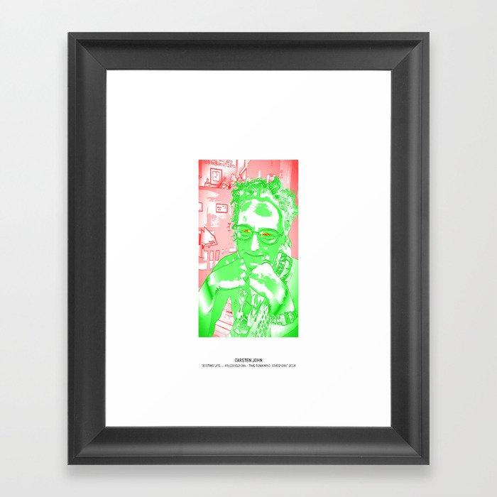 BOOTING LIFE Framed Art Print