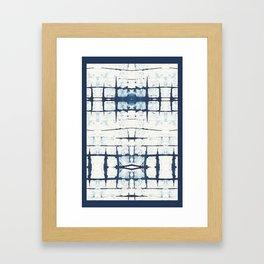 Faded Japanese Shibori Framed Art Print