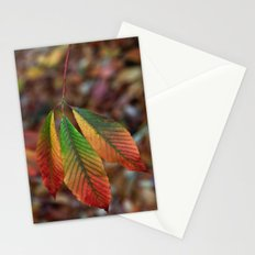 Traffic Light Leaves Stationery Cards