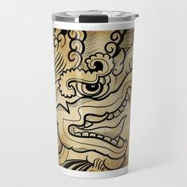 Dragon engraving ancient Travel Mug