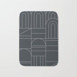 Deco Geometric 04 Black Bath Mat