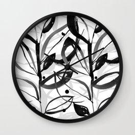 Botanical Joy No.7A by Kathy Morton Stanion Wall Clock