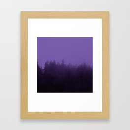 Licorice Forest with Ultra_Violet Fog, Alaska Framed Art Print