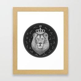 Zodiac sign Leo Framed Art Print