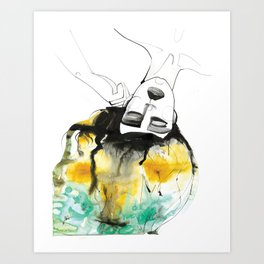 Sleeping Drag Queen Art Print