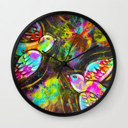 """Be Free!"" | Original painting by Mimi Bondi Wall Clock"