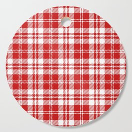Cozy Plaid in Red and White Cutting Board