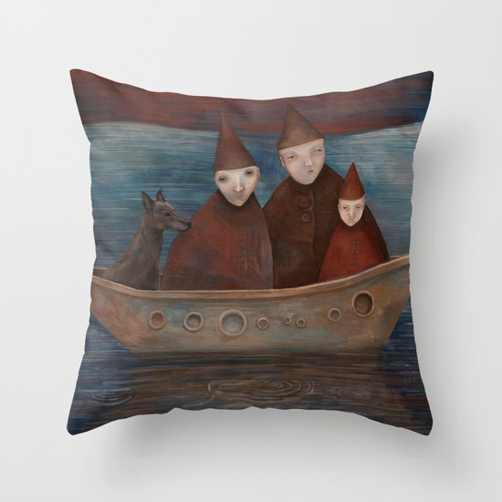Displaced Throw Pillow