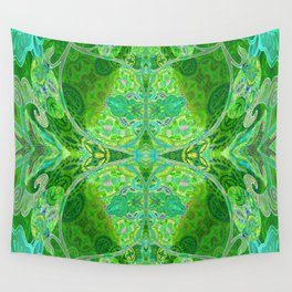 Vintage Dream of Green Wall Tapestry