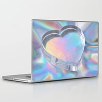 hologram Laptop & iPad Skins featuring Glass Heart by Varvara Repnikova