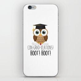 Con-grad-ulations! Hoot! Hoot! iPhone Skin