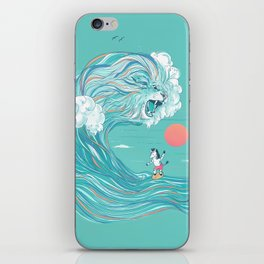 surfing zebra iPhone Skin