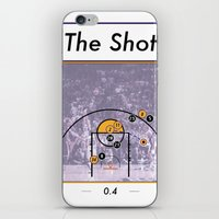 lakers iPhone & iPod Skins featuring The Shot Series, Derek Fisher by Dyllin Shane