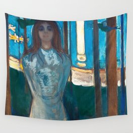 The Voice, Summer Night by Edvard Munch Wall Tapestry