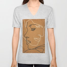 Abstract Face 15 Unisex V-Neck