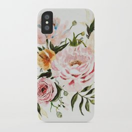 Loose Peonies & Poppies Floral Bouquet iPhone Case