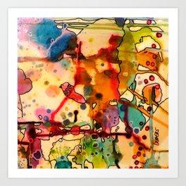 sur le fil Art Print