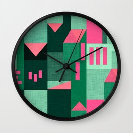 Green Klee houses Wall Clock