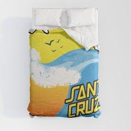 Surf Santa Cruz California Comforters
