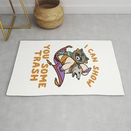 Racoon And Possum I can show you some trash Aladdin and the Magic Lamp Raccoon lover Rug