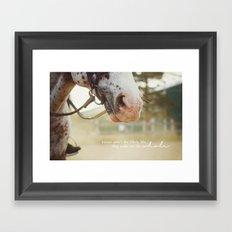 horses make me whole Framed Art Print