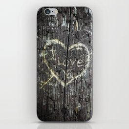 The Carving Tree - I Love You iPhone Skin
