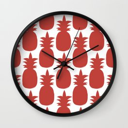 Old Rose Pineapple Pattern Wall Clock