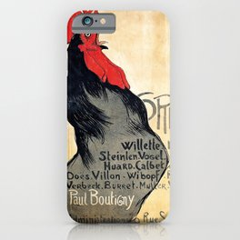 Vintage poster Cocorico - Alfons Mucha (new color rendition) iPhone Case