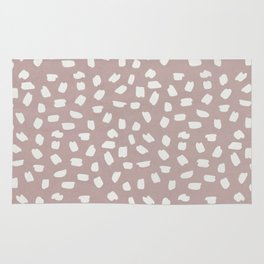 Simply Ink Splotch Lunar Gray on Clay Pink Rug