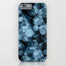 Blue hexagons. Kaleidoscope iPhone Case