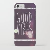 good vibes iPhone & iPod Cases featuring Good Vibes by Michaela Ramstedt