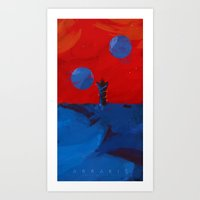 arrakis Art Prints featuring Arrakis, Source of the spice by Fightstacy