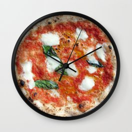 Pizza Margherita Clock Wall Clock