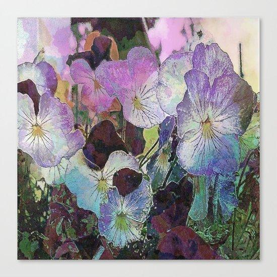 Pansies Purple Canvas Print
