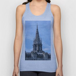 Gothic Tower on Cardiff Castle in Wales United Kingdom Unisex Tank Top