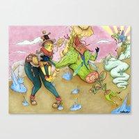 arsenal Canvas Prints featuring Arsenal Girl Umu by Detrocboi