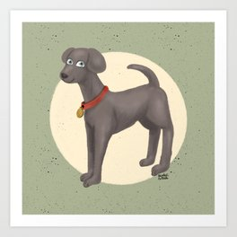 Cute Moony Art Print