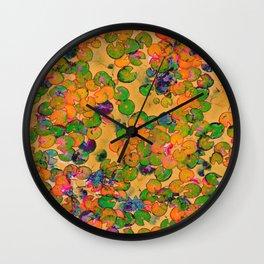 Lily Pad Tie Wall Clock