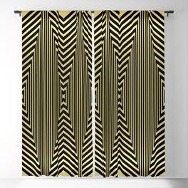 Golden Art Deco Arrowheads Blackout Curtain