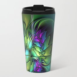Colorful And Abstract Fractal Fantasy Travel Mug