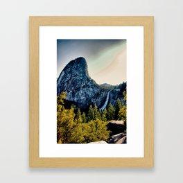 Yosemite Nevada Falls, Liberty Cap Framed Art Print