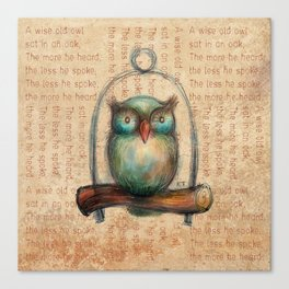 Wise Owl II Canvas Print